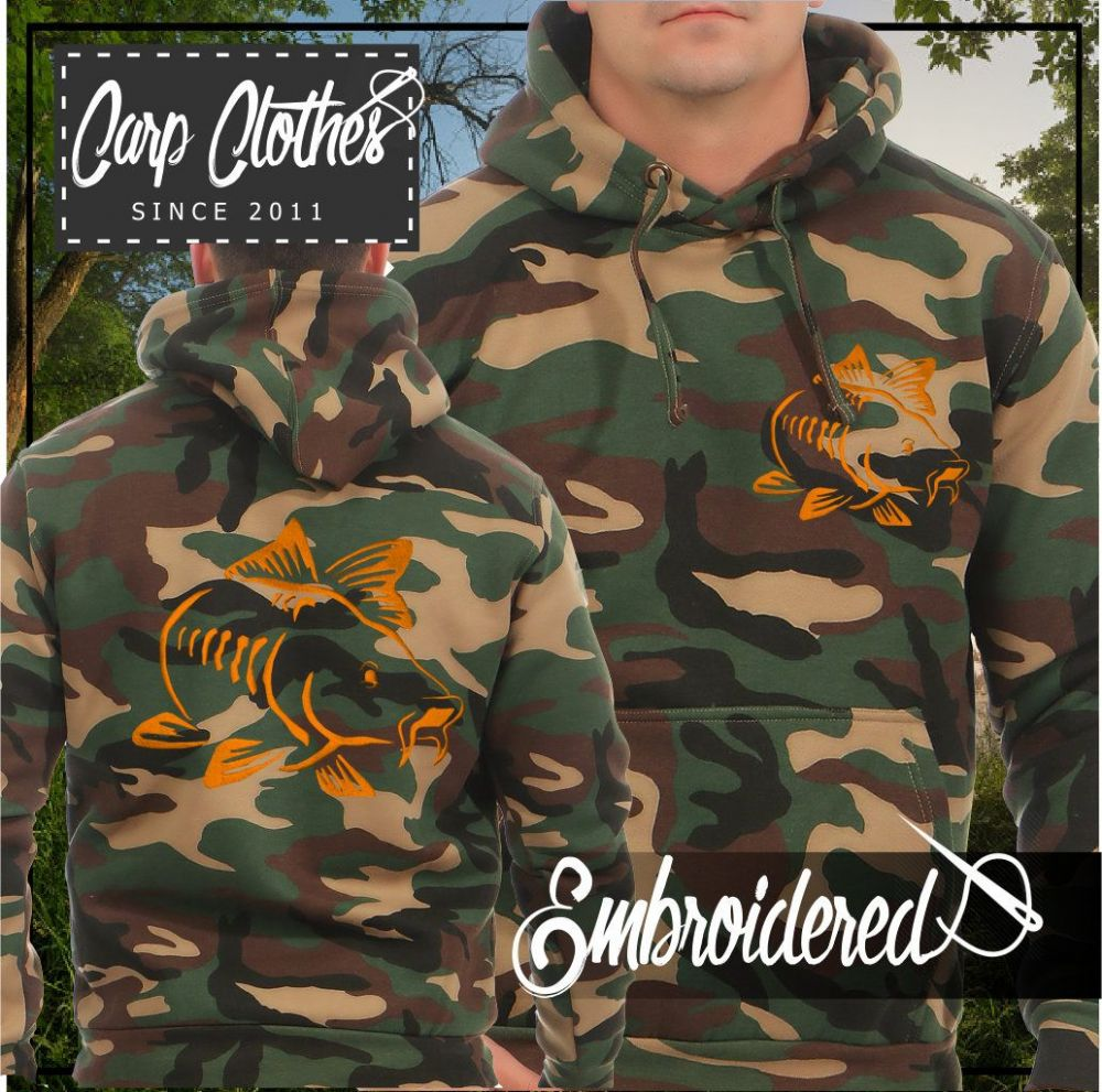 003 EMBROIDERED CAMO FISHING HOODIE